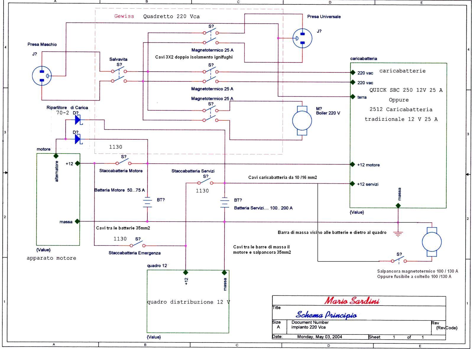 Schema Impianto Elettrico ~ Home Design e Ispirazione Mobili